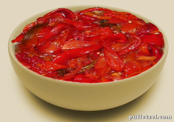 Salad of roasted peppers