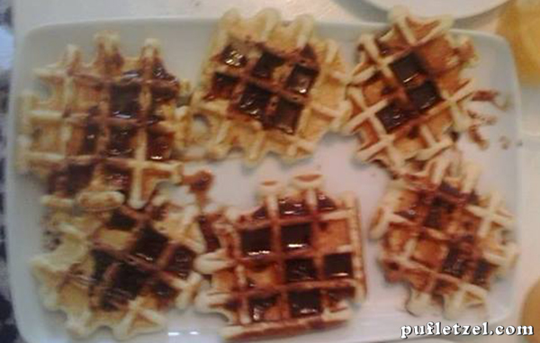 Waffle with coconut flakes