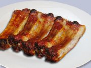 Pork ribs with sticky sauce