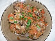 Liver with vegetable sauce