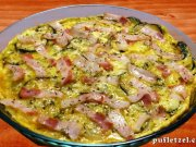 Frittata with bacon and mushrooms