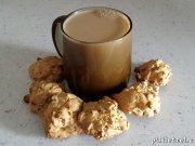 Cookies with oatmeal and walnuts