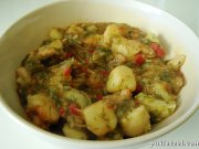 Potatoes stew with dill