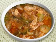 Pickled cucumbers stew with meat