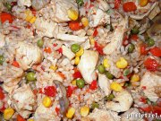 Mexican vegetables mix with chicken